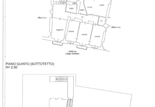 Piantina appartamento largo Cibrario Torino